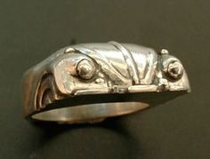 1967 VW Beetle Ring Luv Bug Look Ring by hioctanejewelry on Etsy, $165.00