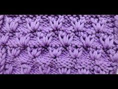"▶ Knit with eliZZZa * Slip stitch pattern ""grassroots"" * Knitting stitch with slip stitches - YouTube"