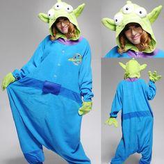 Blue Squeeze Toy Aliens Onesies Hoodie Pajamas | PajamasBuy