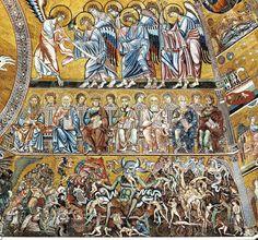 Coppo di Marcovaldo - Il Giudizio Universale (Inferno) ( in basso) - c. 1260-1270 - mosaico - Battistero di San Giovanni a Firenze