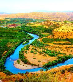 Río Gran Zab, por la provincia de Erbil.