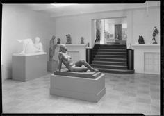 Whitney Museum of Modern Art. Detail of 2 statues in gallery 4. Date: January 31, 1932  10 West 8th Street.