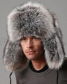 96c9b0465cf Silver Fox Full Fur Russian Hat for Men