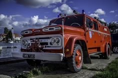 Classic Chevrolet Fire truck in Poland