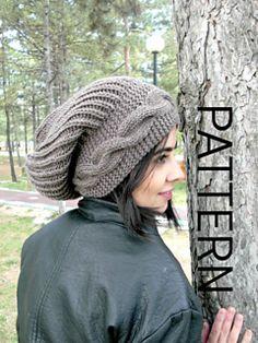 Slouchy Beanie Knit hat pattern women Digital Hat Knitting PATTERN PDF Winter Hat Cable Style Knit hat Pattern Slouchy Knit Pattern – Knitting patterns, knitting designs, knitting for beginners. Popular Hats, Knitted Hats, Crochet Hats, Cable Knit Hat, Slouchy Hat, Knitting For Beginners, Hats For Women, Hand Knitting, Tweed