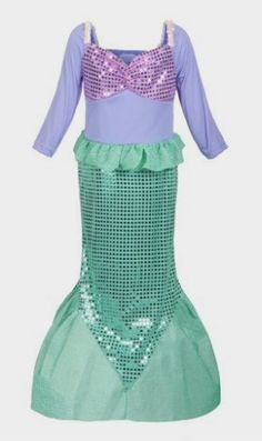 ReliBeauty Girls Sequins Little Mermaid Costume http://amzn.to/2bItL7d
