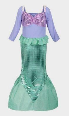 ReliBeauty Girls Sequins Little Mermaid Costume http://amzn.to/2bItL7d