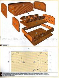 #2703 Tambour Desk Organizer Plans - Woodworking Plans