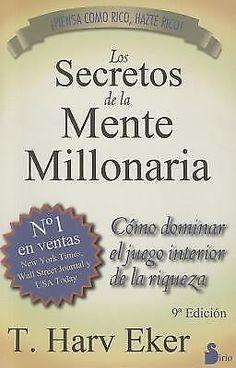 Los Secretos de la Mente Millonaria T. Harv Eker Spanish Libro Español Dinero