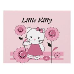 #Little Kitty Panel Wall Art - #giftideas for #kids #babies #children #gifts #giftidea
