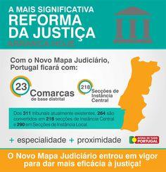 A mais significante Reforma da Justiça arranca hoje. O Novo Mapa Judiciário entrou em vigor para dar mais eficácia à justiça. #especialidade   #proximidade   #justiça   #AcimadetudoPortugal