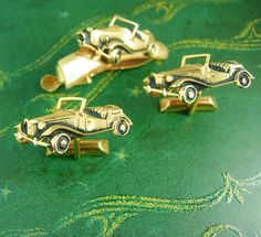 Vintage Antique Roadster Cufflinks MG by NeatstuffAntiques on Etsy