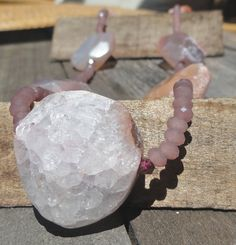 Rough Around the Edges  - Rough Cut AGATE and sweet garnets. by kimhunt on Etsy