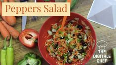 Peppers Salad | Healthy and Nutritious Quick Salad~ Chef Vinoo's Recipe - YouTube