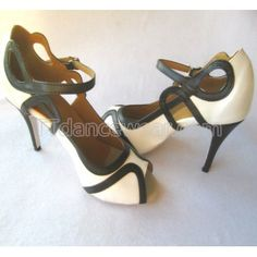 Free Shipping Wholesale White Leather Latin Salsa Ballroom Dance Shoes