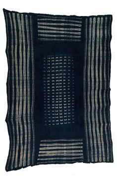 Africa   Cloth from the Dogon people of Mali   Cotton; indigo dyed