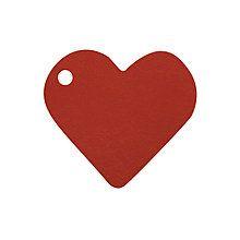 Namensschilder Herz 4x4 cm, bordeaux 10 Stück