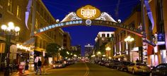 Inspiration -- San Diego's GasLamp District along the waterfront!  #sdNightOut