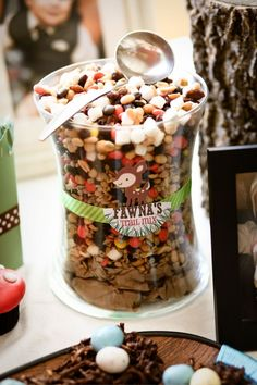 Love the trail mix idea and naming the snacks for different animals. Baby Shower Fall, Baby Shower Themes, Baby Boy Shower, Baby Showers, Shower Ideas, Fairy Birthday Party, Boy Birthday, Birthday Snacks, Birthday Ideas
