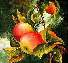 Varvara Harmon - Artist and Illustrator - Limited Edition Prints Apple Illustration, Fruits Drawing, Multimedia Artist, Fruit Painting, Still Life Art, High Art, Landscape Paintings, Acrylic Paintings, Flower Art