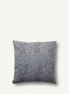 Made of heavyweight upholstery cotton, this pillow sham features the classic Pirput Parput dot design by Vuokko Eskolin-Nurmesniemi. Home Textile, Textile Design, Cushion Covers, Pillow Covers, Airstream Living, Dots Design, Scandinavian Home, Marimekko, Fabric Covered