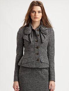 Burberry Prorsum Jersey Tweed Jacket The Business Woman #burberryprorsum