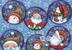 Santa and Snowmen - # 1