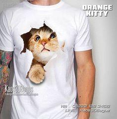 Kaos KUCING, Kaos 3D Gambar Kucing keluar dari Kaos, Kaos Kucing Lucu, WA : 08222 128 3456, LINE : Kaos3DBagus, https://kaos3dbagus.wordpress.com/2015/06/28/jual-kaos-3d-gambar-kucing-kaos-cat-lover-3d-kaos-pecinta-kucing/