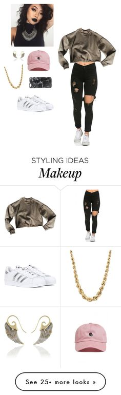 """"" by kawaii-inspired on Polyvore featuring The Hundreds, adidas and Casetify"
