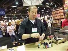Tim Holtz Demoing Snow Cap Alcohol Ink at CHA Summer 2011 - YouTube