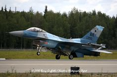 RECOVERY: RED FLAG-ALASKA 15-3 General Dynamics F-16C Viper USAF 86-0293 18th Aggressor Squadron (AGRS) Russian-style Camo
