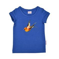 ba*ba kidswear T-shirt kobalt print #EKOkatoen #GOTS #duurzaam ekodepeko.nl