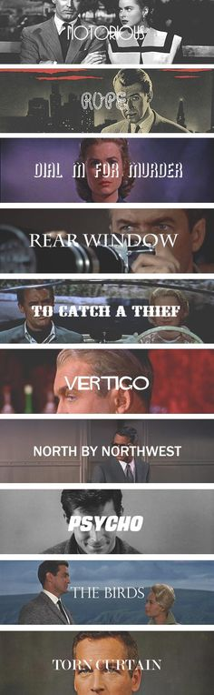 Notorious, Rear Window, and North by Northwest are my favourites <3