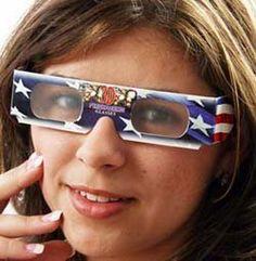 PRE-PRINTED American Flag Fireworks Glasses - Patriotic Red, White