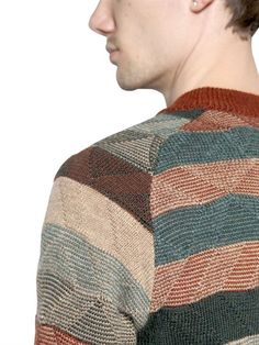 WHITE MOUNTAINEERING - STRIPED WOOL JACQUARD SWEATER