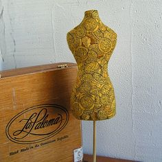 Handmade mannequin torso Coin Cotton fabric Housewares by MyWealth