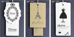 etiquetas colgantes para ropa - Buscar con Google