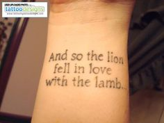 Higher Resolution Lion Lamb Quote Tattoo Dea Feee Bdd