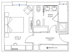 Master Suite Floor Plan, Master Bedroom Plans, Master Room, Floor Plan Sketch, Floor Plan Layout, Small Bathroom Floor Plans, Narrow Lot House Plans, Open Plan Kitchen Living Room, Hotel Room Design