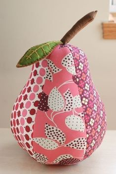 PDF Sewing Pattern for Plush Pear Pincushion, Ornament, and Pillow. $10,00, via Etsy.