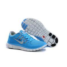 buy online c3406 c981c Billig replica Dame Nike Free 5.0 + Blå Hvit Nike Air Max, Løbesko Nike,