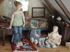 Doll by Taru Astikainen, styling by Hanna & Leijona Child Doll, Miniature Dolls, Miniatures, Kids Rugs, Children, Scale, Inspiration, Portrait, Decor