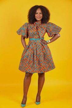 45 Fashionable African Dresses Discover the hottest ankara African dresses you need this season. Everything from peplum, bubble sleeves, and flare to mixed African print. This season's hottest styles & where to get them are in one convenient post. African Print Clothing, African Print Dresses, African Dresses For Women, African Attire, African Wear, African Clothes, African Prints, African Women, African Style