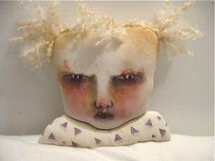 albino art doll head .....by { copyright } Sandy Mastroni