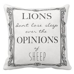 Pillow Cover Inspirational Quote Lions Don't Lose Sleep by Jolie Marche on Etsy