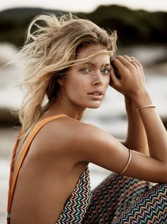 Doutzen Kroes in Breezy Swimwear for Vogue UK January 2013 | The Front Row View
