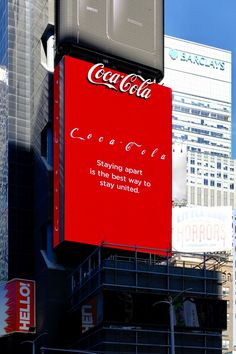 Brand: Coca-Cola  Country: France  Date: March 2020  Business sector: Non alcoholic beverages  Media: OOH