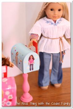 Cute, easy and inexpensive crafts are perfect for my girls. This is an adorable idea to make a diy mailbox for an American Girl Doll. My kids will love this!