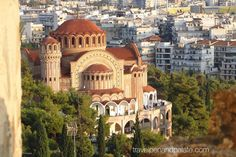 Greek Orthodox Church in Thessaloniki, Madeconia, Greece Cool Places To Visit, Places To Travel, Greece Tourism, Greece Travel, Hagia Sophia, Greece Islands, Church Building, Thessaloniki, Amazing Destinations