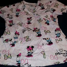 Minnie Mouse Scrub Top Seasonal Scrub Top Tops
